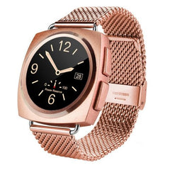 A11 Metal Strap Bluetooth Smart Watch Heart Rate / Pedometer / Sleep Monitor / Sedentary Reminder / Camera Remote Control(Rose Gold)