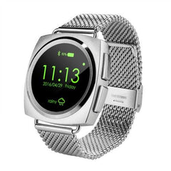 A11 Metal Strap Bluetooth Smart Watch Heart Rate / Pedometer / Sleep Monitor / Sedentary Reminder / Camera Remote Control(Silver)