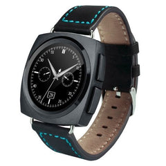 A11 Leather Strap Bluetooth Smart Watch Heart Rate / Pedometer / Sleep Monitor / Sedentary Reminder / Camera Remote Control(Black)