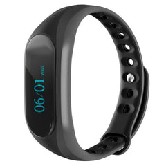 CUBOT V1 Touch Screen Bluetooth Life Waterproof Smart Wristband for iOS / Android Smart Phone  Anti-lost / Message Push / Pedometer / Sleep Monitor(Black)