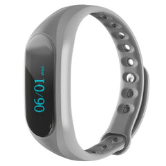 CUBOT V1 Touch Screen Bluetooth Life Waterproof Smart Wristband for iOS / Android Smart Phone  Anti-lost / Message Push / Pedometer / Sleep Monitor(Grey)
