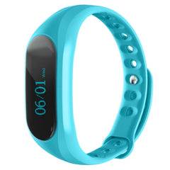 CUBOT V1  Touch Screen Bluetooth Life Waterproof Smart Wristband for iOS / Android Smart Phone  Anti-lost / Message Push / Pedometer / Sleep Monitor(Blue)