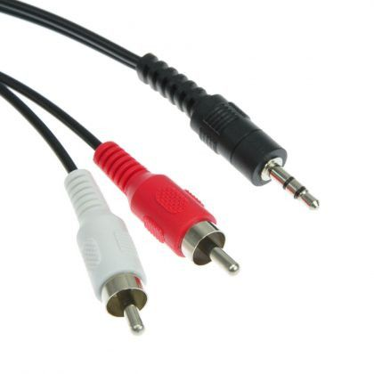 Stereo Male To 2 Xrca Male 5 M Cable