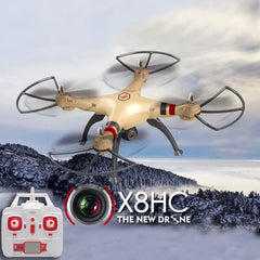 SYMA X8HC 4-Channel 2.4GHz Radio Control Quadcopter with 2.0MP HD Camera & 6-axis Gyro & LED Light(Gold)