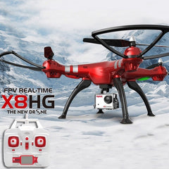SYMA X8HG 4-Channel 2.4GHz Radio Control Quadcopter with 8.0MP 1080P HD Camera & 6-axis Gyro & LED Light(Red)