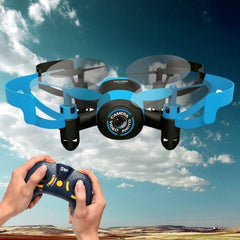 512V Mini 360 Degree Flip 4-Channel 2.4GHz Radio Control Quadcopter with 0.3MP Camera & 4G TF Memory Card & 6-axis Gyro(Blue)