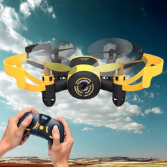 512V Mini 360 Degree Flip 4-Channel 2.4GHz Radio Control Quadcopter with 0.3MP Camera & 4G TF Memory Card & 6-axis Gyro(Yellow)