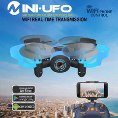 512W Mini 360 Degree Flip 4-Channel 2.4GHz WiFi Real-time FPV Radio Control Quadcopter with 0.3MP Camera & 6-axis Gyro(Blue)