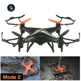 F51C 2.4G 4CH 4-axis 3ATM Waterproof Quadcopter Drone with 2MP Camera & LED Light(Black)