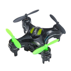 D2 2.4G 4CH Mini Quadcopter Drone with 2MP Camera & LED Light & 6-axis Gyro(Black)
