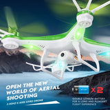 JJRC H97 Gyro 4-Channel 2.4GHz Drones RC Quadcopter with LED Light & 0.3MP Camera(Green)