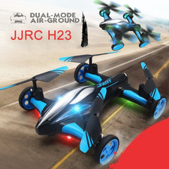 JJRC H23 Flying & Car Headless Mode 2.4GHz 6 Axis Drone RC Quadcopter with Remote Control(Blue)