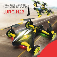 JJRC H23 Flying & Car Headless Mode 2.4GHz 6 Axis Drone RC Quadcopter with Remote Control(Yellow)