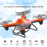 JJRC H32WH 4-rotor 2.4GHz WiFi Gyro Drone Altitude Position Hold RC Quadcopter with 2MP HD Camera & Remote Control(Orange)