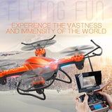 JJRC H32GH 4-rotor Gyro Drone Altitude Position Hold RC Quadcopter with LCD Screen & 2MP HD Camera & Remote Control (Orange)