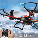 JJRC H12W-A 360 Degree Flip 4-Channel 2.4GHz WiFi Real-time FPV Radio Control Quadcopter with 2.0MP Camera & 6-axis Gyro & LED Light & Small Remote Controller(Orange)