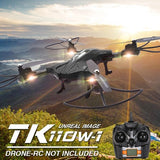 TK110HW Foldable 360 Degree Flip 4-Channel 2.4GHz WiFi Real-time FPV Radio Control Quadcopter with 0.3MP Camera & 6-axis Gyro & LED Light & Remote Controller(Black)