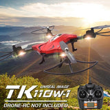 TK110HW Foldable 360 Degree Flip 4-Channel 2.4GHz WiFi Real-time FPV Radio Control Quadcopter with 0.3MP Camera & 6-axis Gyro & LED Light & Remote Controller(Red)