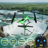 JJRC H31 360 Degree Flips 4-Channel 2.4GHz Radio Control Quadcopter with 0.3MP Camera & 6-axis Gyro & LED Light & Remote Control & Sunglasses(Green)