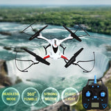 JJRC H31 360 Degree Flips 4-Channel 2.4GHz Radio Control Quadcopter with 0.3MP Camera & 6-axis Gyro & LED Light & Remote Control & Sunglasses(White)