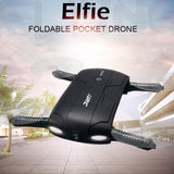 JJRC H37 Elfie 6-axis Gyro Drone WiFi Control Mini Foldable Quadcopter with 0.3MP Camera Altitude Mode Self-timer 360 Degree Flips Headless Mode One Key Return(Black)