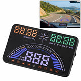 S7 5.8 inch Car GPS HUD / OBD2 Vehicle-mounted Gator Automotive Head Up Display Security System with Dual Display Support Car Local Real Time & Real Speed & Turn Speed & Water Temperature & Oil Consumption & Driving Distance / Time & Voltage & Elevation &
