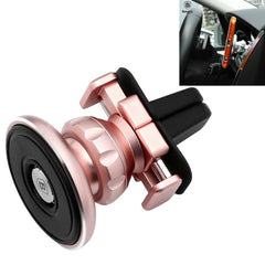 Baseus Gold Aromatizing Magnetic Car Air Vent Mount 360 Degrees Rotation Aluminum + Silicone Phones and Tablets Holder Stand(Rose Gold)