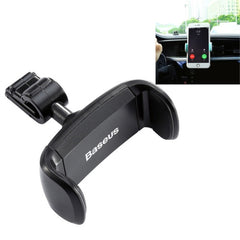 Baseus Stable Series Car Air Vent Mount Clamp 360 Degrees Rotation ABS + Silicone Phones Holder Stand for 3.5 - 5.5 inch Mobile Phones(Black)