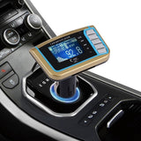Car MP3 Music Player with FM Transmitter with Remote Control Support TF / SD Card / USB Flash Disk(Gold)