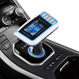 Car MP3 Music Player with FM Transmitter with Remote Control Support TF / SD Card / USB Flash Disk(White)