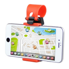 ENKAY Hat-Prince Universal Car Steering Wheel Phone Mount Holder for Width of 5-8cm Smartphones(Red)