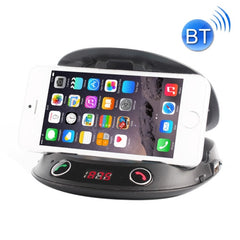 BT8128 Car Bluetooth FM Transmitter with Holder Function & Remote Control Support LED Display / Hands-free / TF(Black)
