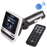 FM12B Car Bluetooth FM Transmitter with Remote Control Support USB / TF Card / MP3 Music Play