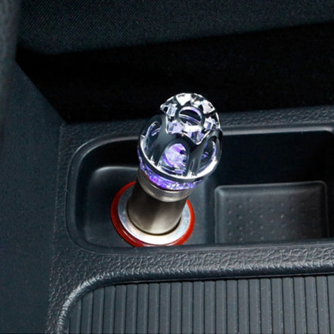 Car Cigarette Lighter Air Purifier Negative Ione Freshener Air Cleaner Removes Pollen Smoke Bad Smell and Odors For Auto and Indoor(Grey)