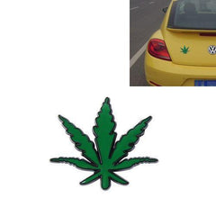 1 PCS Pure Metal Maple Leaf Car Stickers(Green)