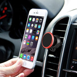 360 Degree Rotatable Universal Non Magnetic Nanometer Micro-suction Car Air Vent Phone Holder Stand for 3.5 - 5.5 inch Mobile Phones (Red)