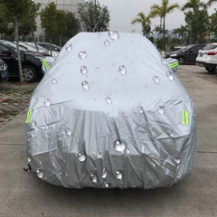 Outdoor Universal Anti-Dust Waterproof Sunproof SUV Car Cover with Warning Strips Fits Cars up to 5.1m(199 Inches) In Length