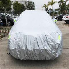 Outdoor Universal Anti-Dust Sunproof SUV Car Cover with Warning Strips Fits Cars up to 4.8m(187 Inches) In Length