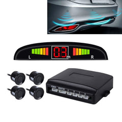 Car Buzzer Reverse Backup Radar System - Premium Quality 4 Parking Sensors Car Reverse Backup Radar System with LCD Display
