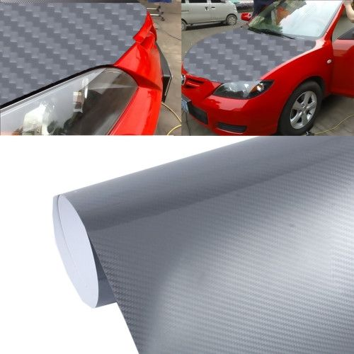 5d High Gloss Carbon Fiber Car Vinyl Wrap Sticker Decal Film Sheet