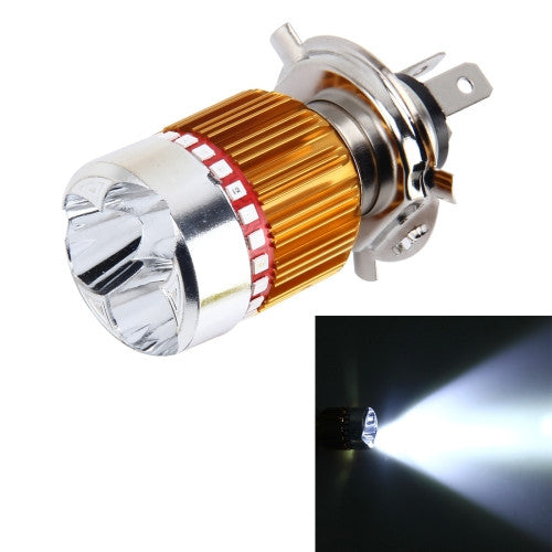 Online Buy H4 9W 900 LM 6000K Static + Strobe Light Motorcycle Headlight  Lamp With 3