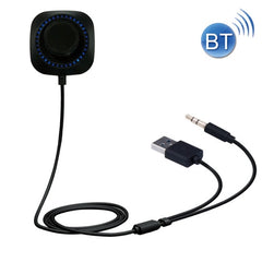 B3510 Car Bluetooth 4.1 Wireless Music Receiver with Built-in Mic & LED Lights for iPhone / iPad / Stereo Support Hands-free / iOS Siri (Black)