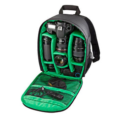 INDEPMAN DL-B012 Portable Outdoor Sports Backpack Camera Bag for GoPro SJCAM Nikon Canon Xiaomi Xiaoyi YI Size: 27.5 * 12.5 * 34 cm(Green)