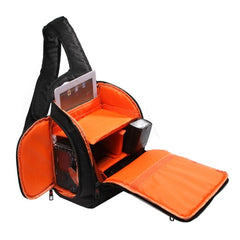 INDEPMAN DL-B011 Portable Scratch-proof Outdoor Sports Sling Shoulder Bag Chest Pack Micro Single Camera Bag Phone Bag for GoPro SJCAM Nikon Canon Xiaomi Xiaoyi YI Apple Samsung Huawei Size: 30 x 18 x 26 cm (Orange)