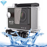 N9 1080P HDMI Waterproof Sport Action Camera Professional Portable 2.0 inch Screen 140 Degrees Wide Angle Lens Support WiFi Function Water Resistant Depth: 30M(Black)