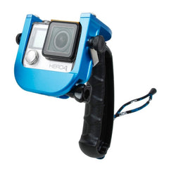 TMC P4 Trigger Handheld Grip CNC Metal Stick Monopod Mount for GoPro HERO4 /3+(Blue)