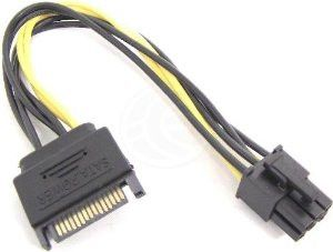 Sata Male 15 Pin To 6 Pin Pci E