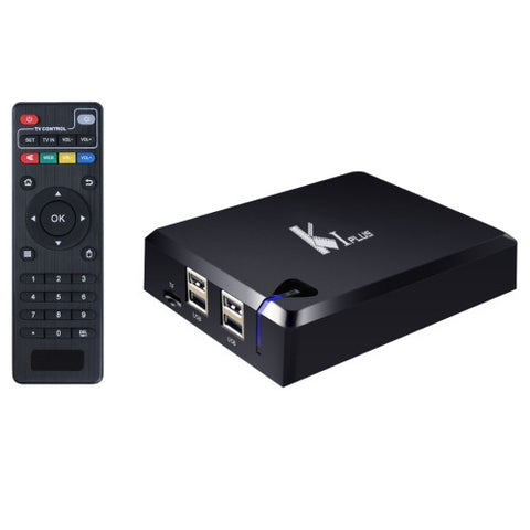 KI PLUS DVB-T2 DVB-S2 1080P 4K HD Smart TV BOX with Remote Controller Android 5.1 Amlogic S905 Quad Core 2.0GHz RAM: 1GB Flash: 8GB Support WiFi KODI DLNA AirPlay Miracast