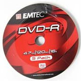 Emtec DVD-R 16X Speed 5pk Non-Printable