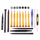 SW-1090-7 16 in 1 Professional Multi-purpose Repair Tool Set with Carrying Bag for iPhone Samsung Xiaomi and More Phones